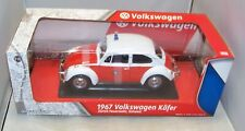 1:18 GREENLIGHT 1967 VW VOLKSWAGEN KAFER BEETLE ZURICH FIRE DEPARTMENT RED WHITE