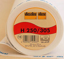 Vilene interfacing 305/H250 (firm) sold by the 0.5m WHITE-for collars, applique