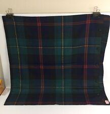 Ralph Lauren European Euro Pillow Sham Tartan Greycliff Collection Wool Plaid