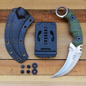 D2 Tactical Karambit Outdoor Hunt Fixed Blade Knife CSGO Combat Claw Knives 859