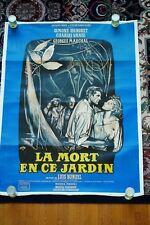 LA MORT EN CE JARDIN LUIS BUNUEL,Simone Signoret ORIG. FRENCH MOVIE POSTER, 1956