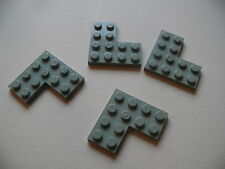 Lego 4 coins plat gris clair set 7470 6411 6543 2152 / 4 old light gray corner