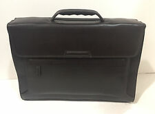 New KORCHMAR F1132 Lux williams Leather Magnetite Briefcase Bag $400