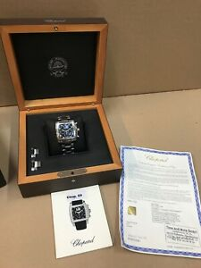 Chopard Two O Ten Stainless Steel Black Dial Mens Chronograph Automatic Watch