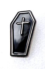 C1 Pirate Coffin Lapel Pin Badge Biker Motorcycle Gothic Casket  FREE UK POST