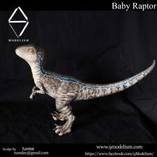 Baby Blue Raptor statue Jurassic world Dinosaur Model Figure Collector toy