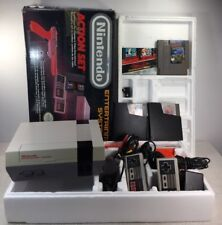 Nintendo Nes Action Set Console Complete Mario Duck Hunt Box Zapper Extra Games
