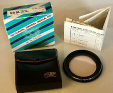 Zeiss SL 49mm to 58mm filter holder with 1A filter for lens, step up ring in box