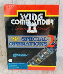 Vtg Sealed Wing Commander II Vengeance Of The Kilrathi Special Operations 2 IBM