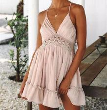 US Stock New Women Sexy Casual Evening Cocktail Party Short Beach Dress Sundress