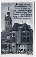 München Bayern alte Ansichtskarte ~1920/30 Partie an der Peterskirche ungelaufen