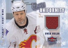 Owen Nolan 2008-09 Ultra Uniformity #UAON JERSEY