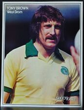 FOOTBALL PLAYER PICTURE TONY BROWN WEST BROMWICH ALBION SHOOT