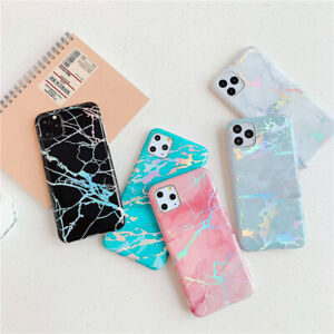 For iPhone 12 11 Pro XS MAX XR X 7 8 6 Plus Phone Case Luxury Glossy Plat Marble