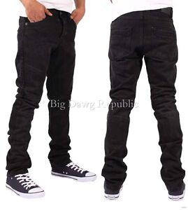 Emporio 7 Men's Black Biker Denim Jeans, New Hip Hop Star Era, G Is Time Money