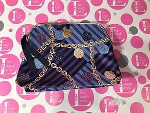 ESTEE LAUDER ~ Chain Link Design ~ Cosmetic Bag ~  Zip Closure ~ Very Classy