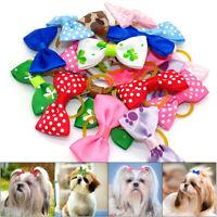 20Pcs Dog Hair Bows Small Dog Cat Puppy Bowknots Pet Grooming Accessory