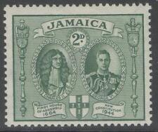 Giamaica sg135a 1945 2d Verde P 12 1/2 x13 MTD Nuovo di zecca