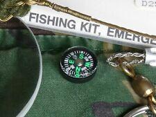 British MOD Issue BCB Explorer NATO Escape & Evasion/Survival Kit Button Compass