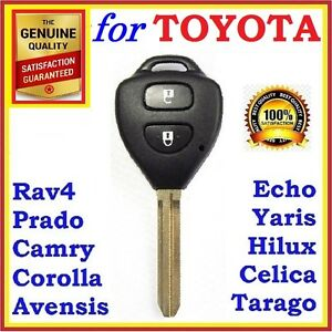 For Toyota Remote Key Shell Corolla Camry Prado Rav4 Echo Hilux Yaris two button