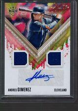 New listing 2021 Diamond Kings ANDRES GIMENEZ Dual Jersey AUTOGRAPH Auto #DKMS-GI Indians