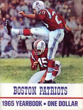 Vintage 1965 Boston Patriots Yearbook W/ Poster AFL Cappelletti Buoniconti