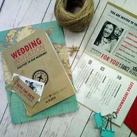 Passport Destination Love Travel Overseas Wedding Invitation With Free Envelope