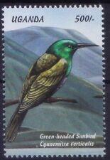 Uganda 1999 MNH, Green-headed Sunbird, Birds - (Z2n)