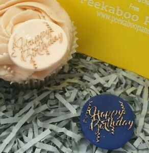 Happy Birthday MINI Cookie Biscuit Embosser Outbosser Stamp Fondant Cake