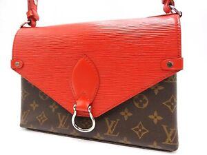 LOUIS VUITTON Saint Michel Crossbody Shoulder Bag Monogram Epi Red M44031 V-5892