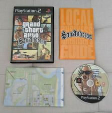 GTA Grand Theft Auto San Andreas Sony Playstation PS2 - Complete With Map - PAL