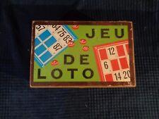 jeu ancien de loto jeu bar bistrot enfant  boite en bois vintage