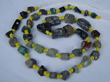 Ancient Roman Glass Fragments Beads Strand C.200 Bc No Reserve Auction 