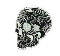 Patch ecusson brodé  backpack tete de mort skull moto thermocollant R2