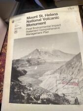 Forest Service 1984 Mount St Helens National Volcanic Mgmt Plan + maps geology