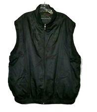 Greg Norman Golf Vest Zip Mens XL Jacket Sleeveless Wind Resist Black Mesh Lined