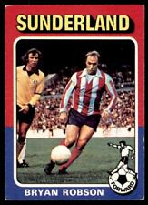 Topps Foootball 1975 Red/Grey (B2) Bryan (Pop) Robson Sunderland No. 218