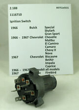 1966-1967 Buick Chevrolet Olds Pontiac NOS ignition switch 1116710