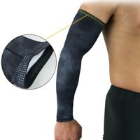 Men's Compression Elbow Support Sleeve Sport Arm Brace Arthritis UV Sun Protect