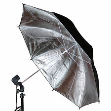 "33""/83cm Black Silver Reflector Softbox Umbrella Photo Strobe Flash Light FREESH"