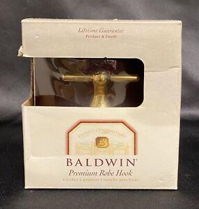 Solid Brass Robe Hook by BALDWIN BRASS Carnivale Crest Lifetime Gaurantee