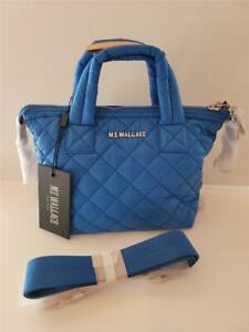 NWT  MZ WALLACE Tahiti Blue Micro Sutton Quilted Handbag with Crossbody Strap