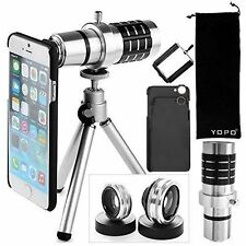 Fits iPhone 6 6 Plus Camera Photo Lenses Tripod Mount Case Stand Accessories Set
