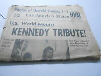 NOV 25 1963 LOS ANGELES TIMES newspaper section KENNEDY ASSASSINATED