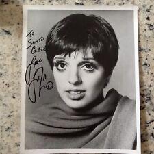 Liza Minnelli SIGNED 8x10 Photo Actress Singer Dancer Cabaret Judy Garland Eyes!
