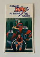 1983 Chicago Blitz USFL Football Pocket Schedule Old Style Beer