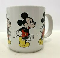 Vintage MICKEY MOUSE WALKING COFFEE MUG Disney World 12oz Korea Cup DisneyLand