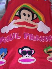 NEW PAUL FRANK MONKEY red bed beach picnic flannel big throw single bed blanket