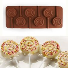 1 x 6 Holes Round Silicone Lollipop Mold DIY Chocolate Cake Cupcake Baking Mould