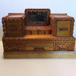 Jewelry Box Sailor Tramp Folk Art Wood